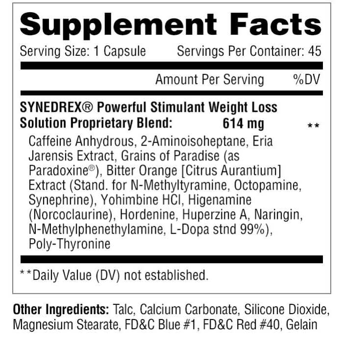 Metabolic Nutrition Synedrex - 45 Capsules-2555