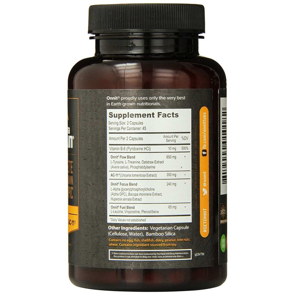 Alpha Brain - 90 Capsules - Onnit Labs-780