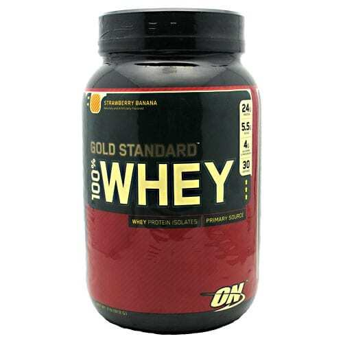 Gold Standard Whey Protein - 2lbs - Strawberry Banana-0