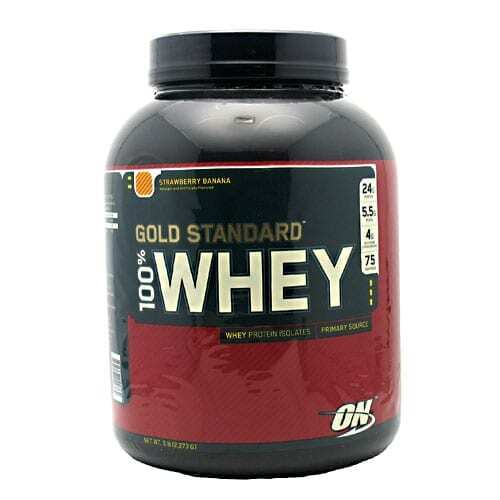 Gold Standard Whey Protein - 5lbs - Strawberry Banana-0