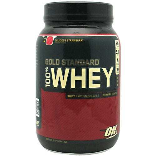 Gold Standard Whey Protein - 2lbs - Delicious Strawberry-0