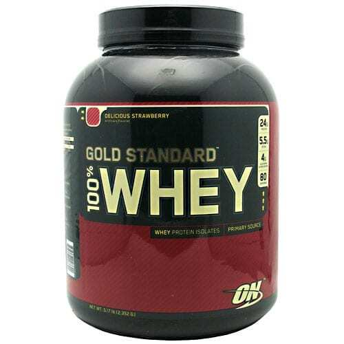 Gold Standard Whey Protein - 5lbs - Delicious Strawberry-0