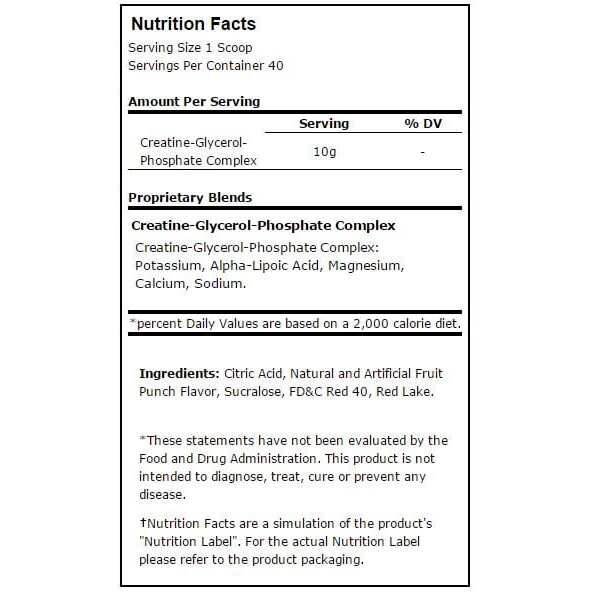 gcp fruit punch nutritional information