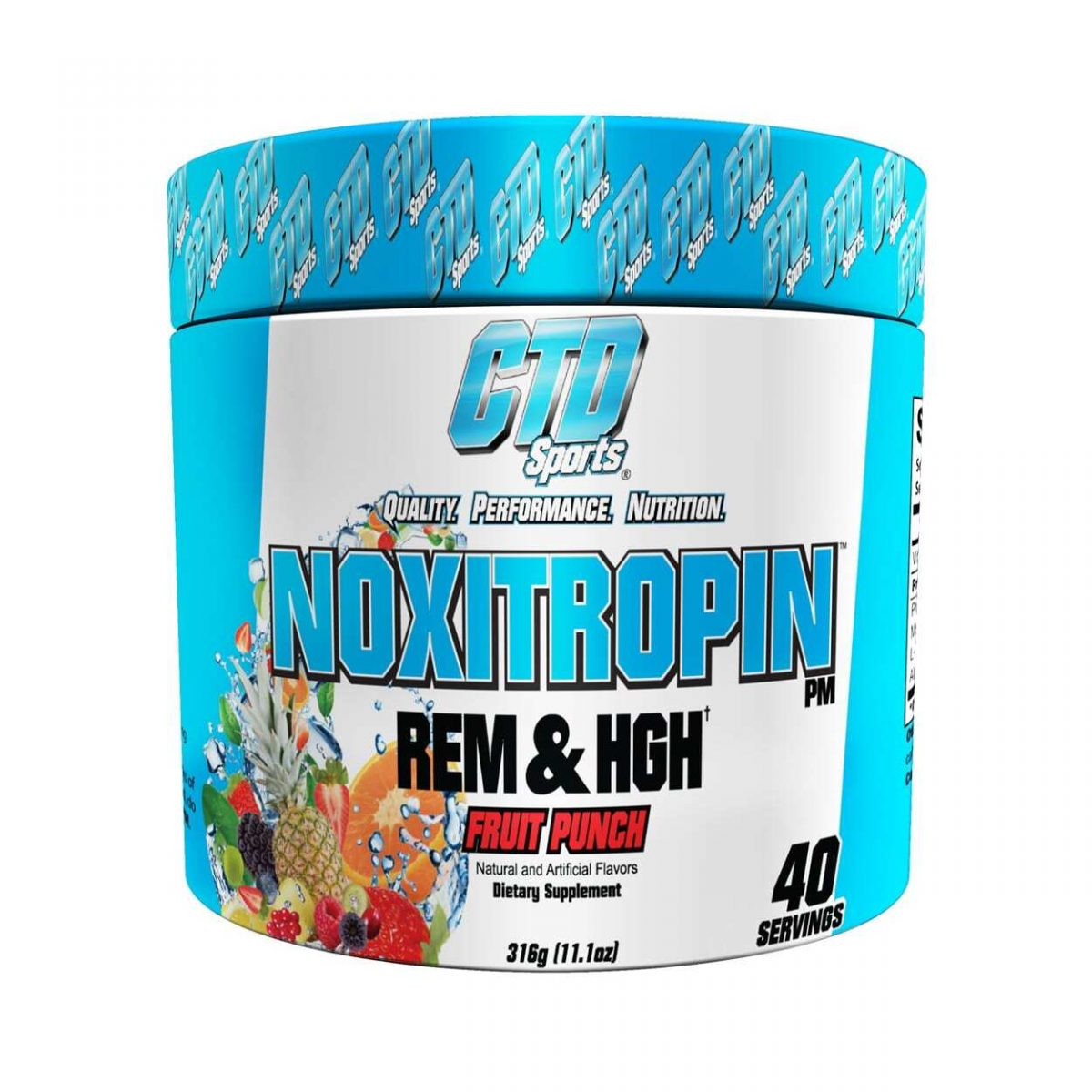 Noxitropin PM by CTD Labs - Fruit Punch - 40 Servings-0