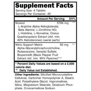 noxivol pills supplement facts
