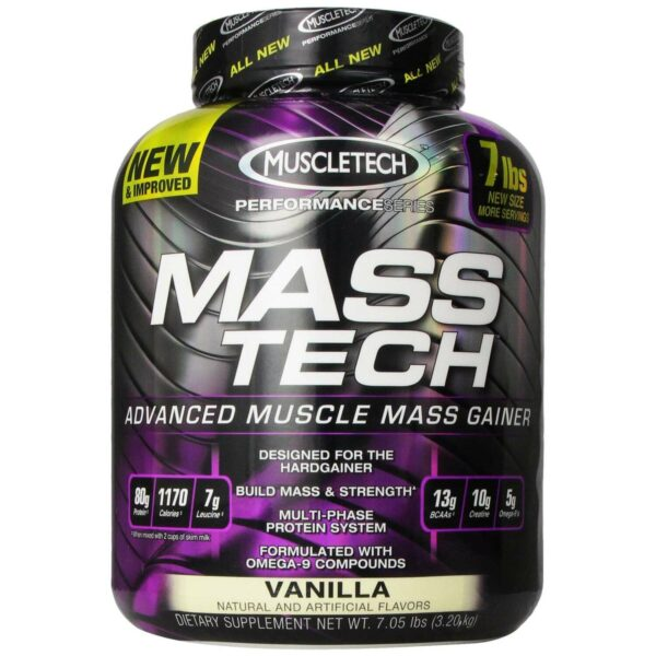 Mass Tech by MuscleTech - Vanilla - 7lb - 13 Servings-0