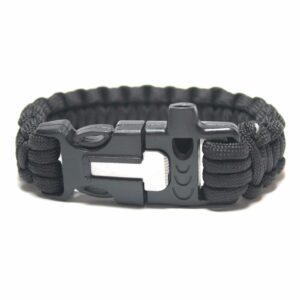 Paracord Survival Bracelet with Fire Starter and Whistle Built In - 9 Inch Length-0
