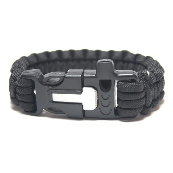 Paracord Survival Bracelet with Fire Starter and Whistle Built In - 9.5 Inch Length-0
