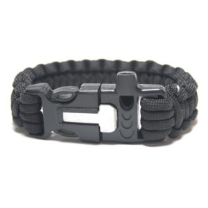Paracord Survival Bracelet with Fire Starter and Whistle Built In - 3 Sizes-0