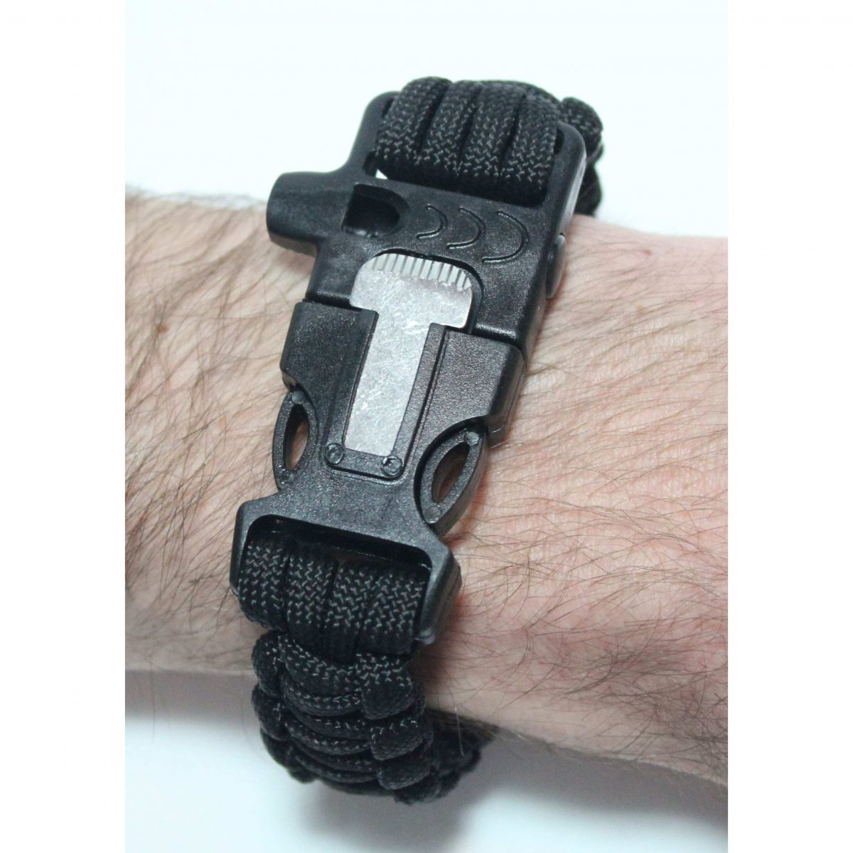 Paracord Survival Bracelet with Fire Starter and Whistle Built In - 10.5 Inch Length-464