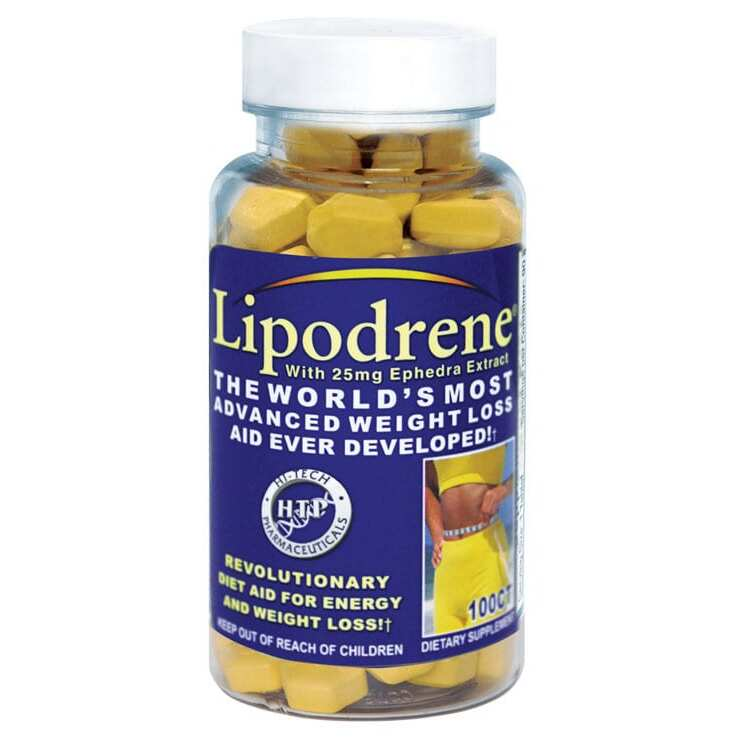 Lipodrene with Ephedra Extract by Hi-Tech Pharmaceuticals - 100 Tablets-0