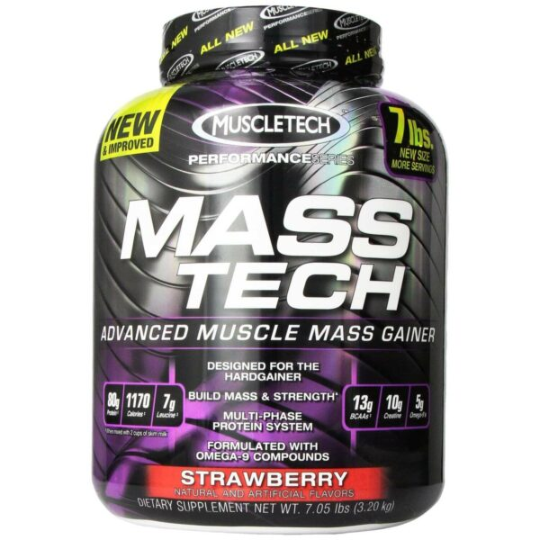 Mass Tech by MuscleTech - Strawberry - 7lb - 13 Servings-0