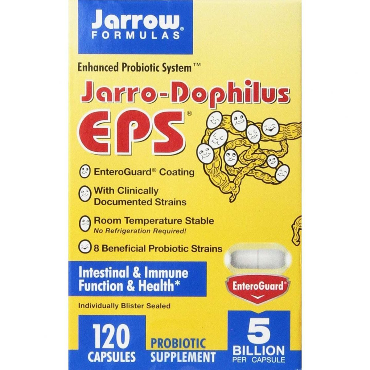 Jarrow Formulas Jarro‑Dophilus EPS Probiotic 5 Billion - 120 Capsules-0