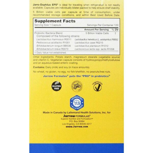 Jarrow Formulas Jarro‑Dophilus EPS Probiotic 5 Billion - 120 Capsules-565