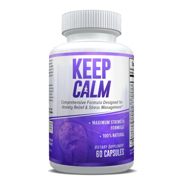 Keep Calm - Anxiety Support Supplement - Comprehensive Formula for Anxiety Relief & Stress Management in Men & Women - 30 Servings-648