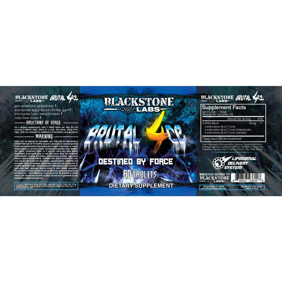 Brutal 4ce - 60 Tablets - By Blackstone Labs-615