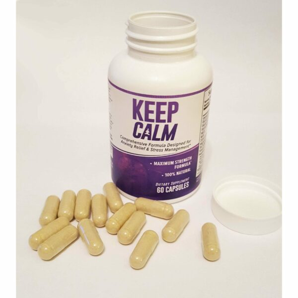Keep Calm - Anxiety Support Supplement - Comprehensive Formula for Anxiety Relief & Stress Management in Men & Women - 30 Servings-649
