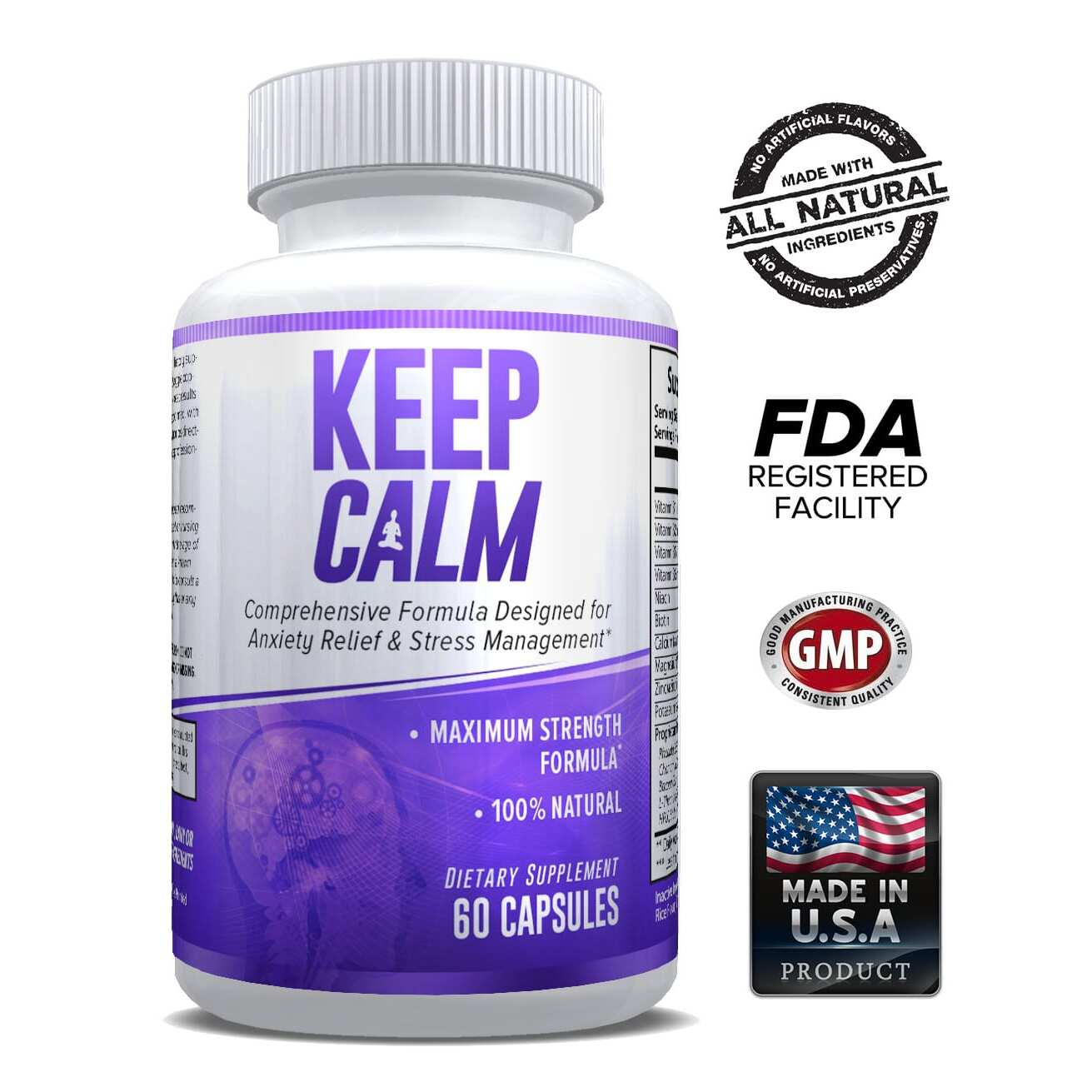 Keep Calm - Anxiety Support Supplement - 30 Servings