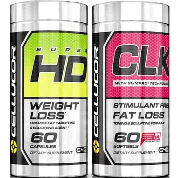 Cellucor Super HD & CLK Stack - 60 Capsules Each-0