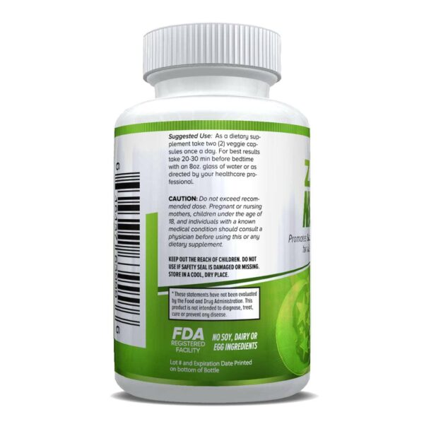 zZz Night Natural Sleep Aid - Non-Habit Sleeping Pills - Promotes Relaxation & Restful Sleep for a Better Tomorrow - 60 Capsules-652