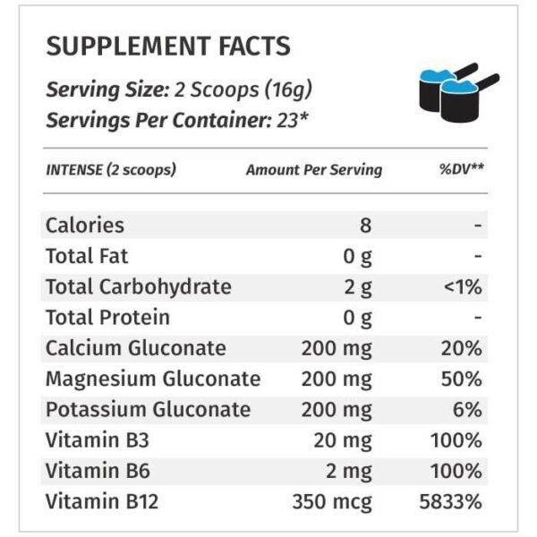 PSP Supplement Facts Intense