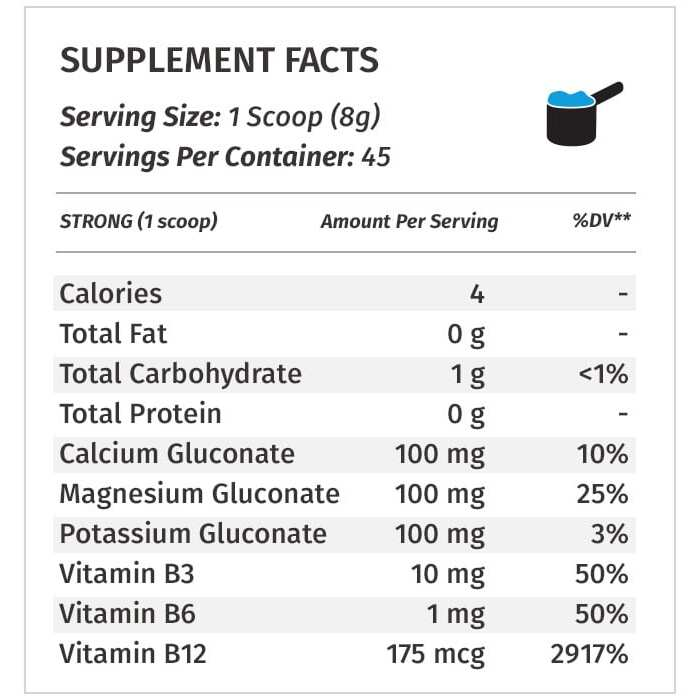 PSP Supplement Facts Strong