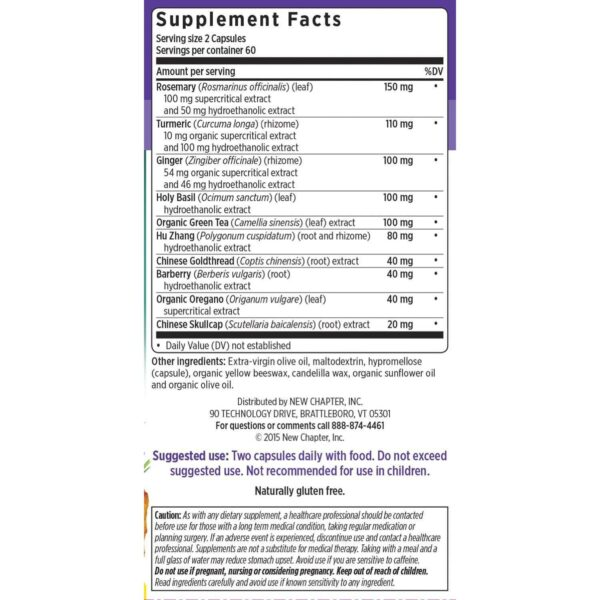 Zyflamend Whole Body Joint Supplement - 120 Liquid VCaps - New Chapter-681