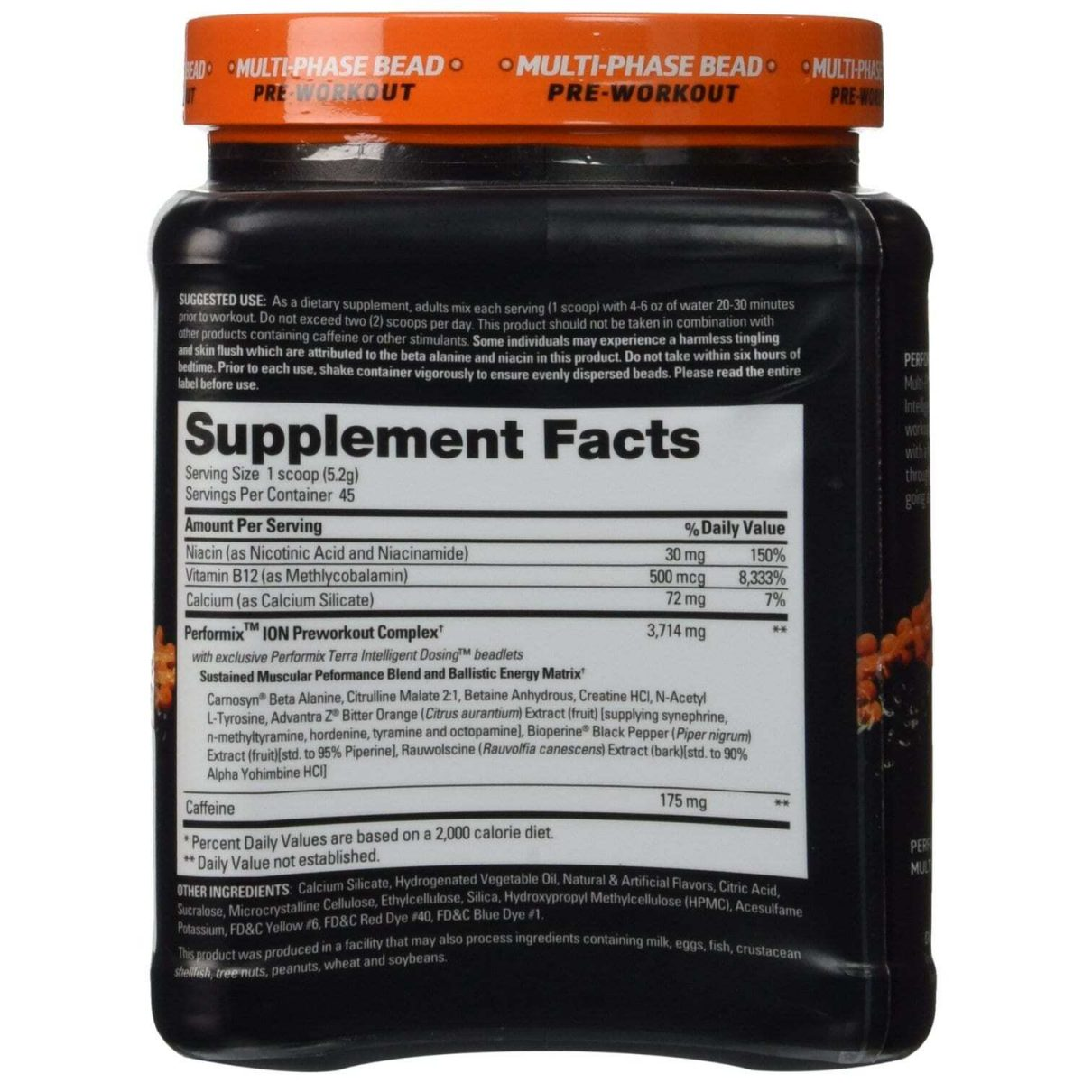 Performix ION Blue Ice Multi-phase Pre Workout - 45 Servings-701