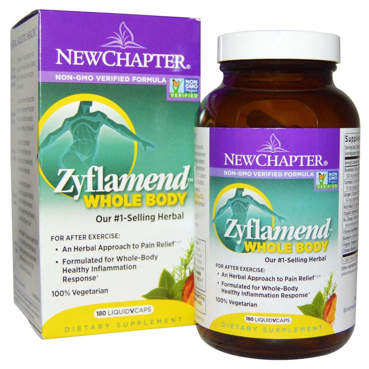 Zyflamend Whole Body Joint Supplement - 180 Liquid VCaps - New Chapter-0