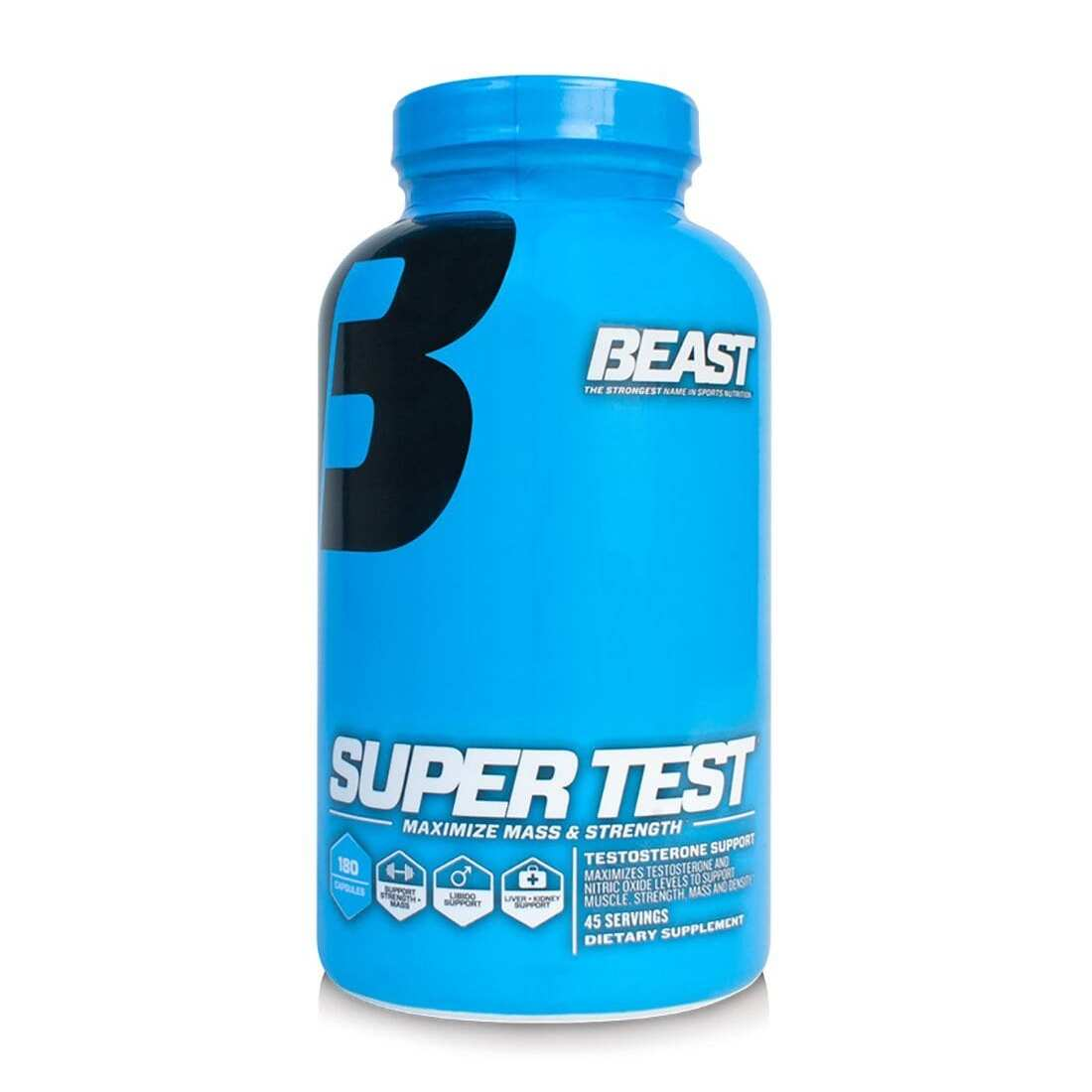 Super Test - 180 Capsules - Beast Sports Nutrition-0