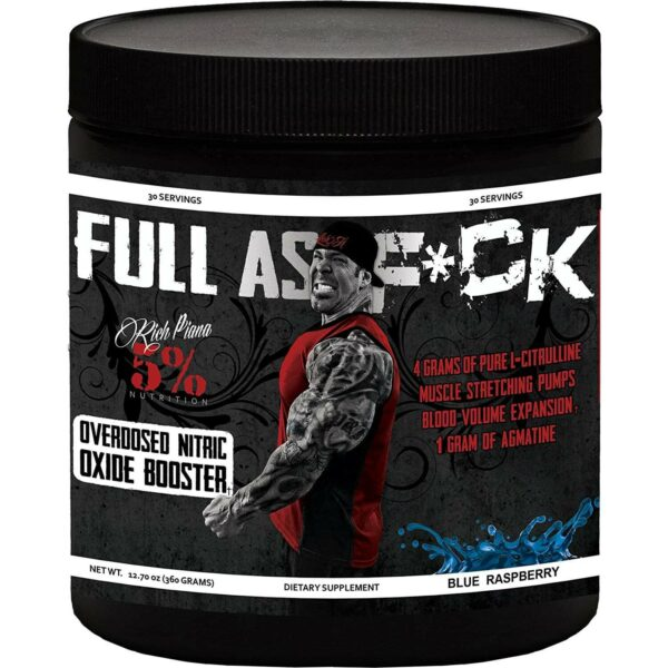 5% Nutrition Full As F*ck Nitric Oxide Booster - Blue Raspberry