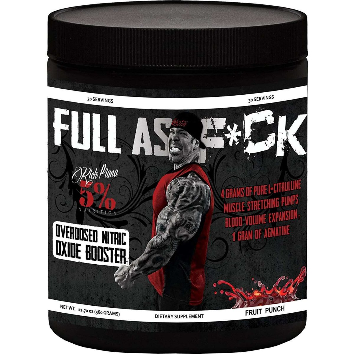 5% Nutrition Full As F*ck Nitric Oxide Booster - Fruit Punch