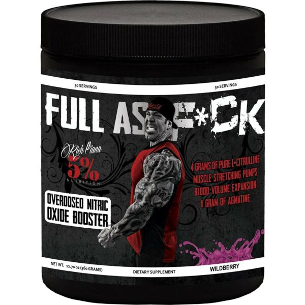 5% Nutrition Full As F*ck Nitric Oxide Booster - Wildberry