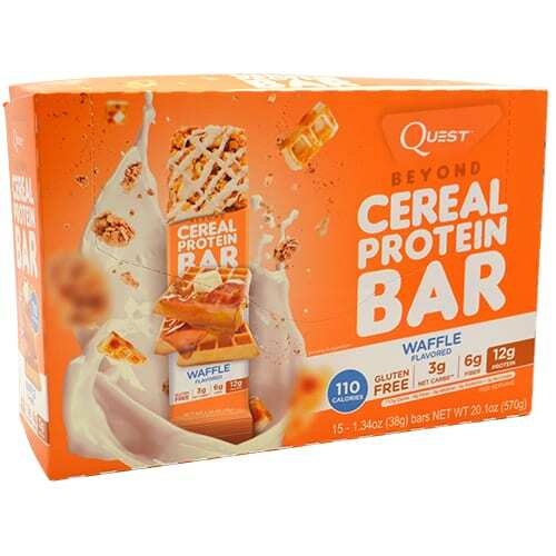 Quest Nutrition Beyond Cereal Protein Bar - Waffle - 15 - 1.34 oz bars