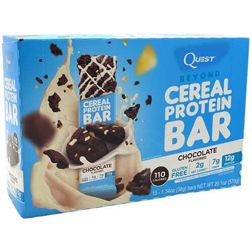 Quest Nutrition Beyond Cereal Protein Bar - Chocolate - 15 - 1.34 oz bars