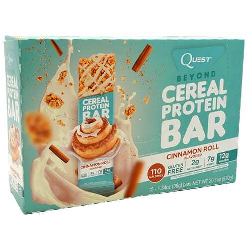 Quest Nutrition Beyond Cereal Protein Bar - Cinnamon Roll - 15 - 1.34 oz bars