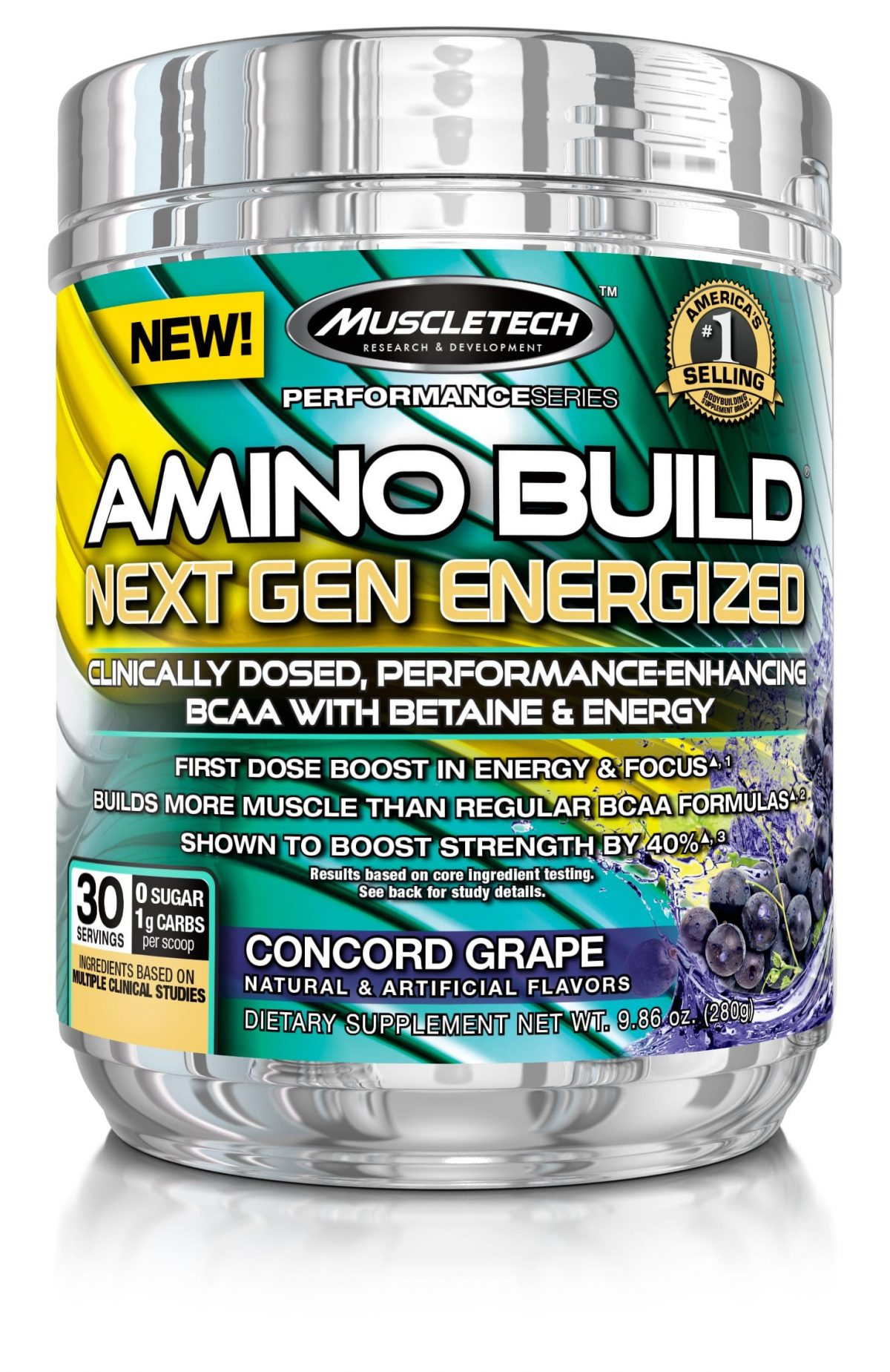 MuscleTech Amino Build Energized - Concord Grape - 30 servings