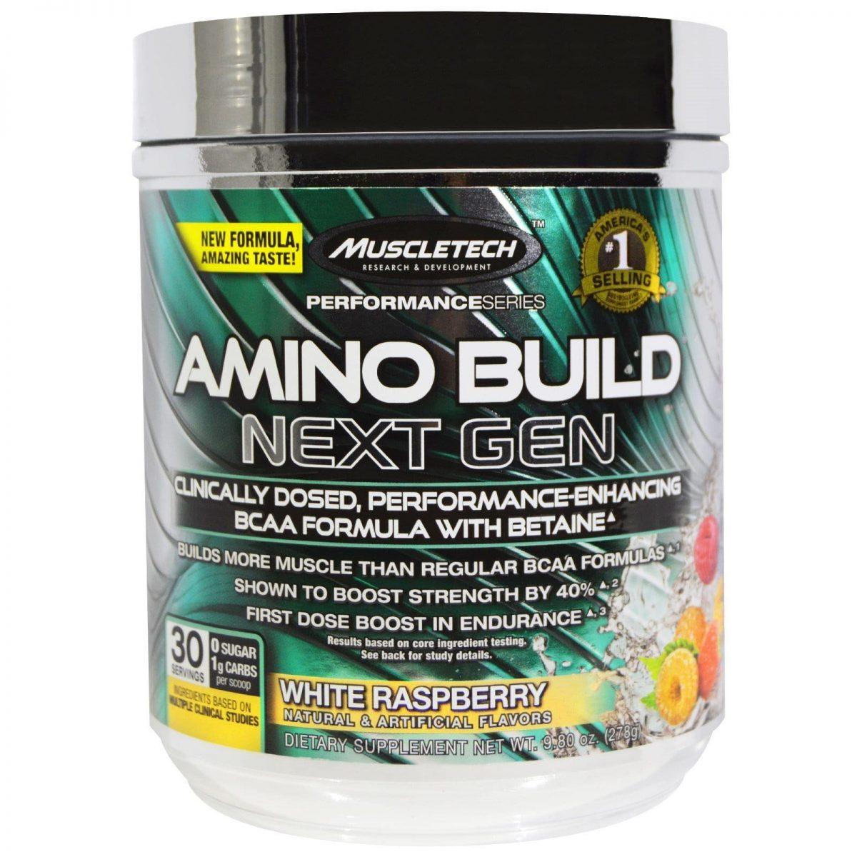 MuscleTech Amino Build - White Raspberry - 30 servings