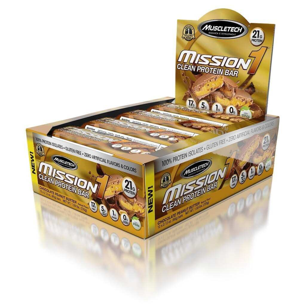 MuscleTech Mission1 - Chocolate Peanut Butter - 12 Bars