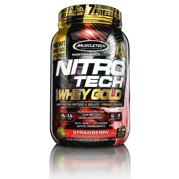 MuscleTech Performance Series Nitro-Tech 100% Whey Gold - Strawberry - 35 Servings