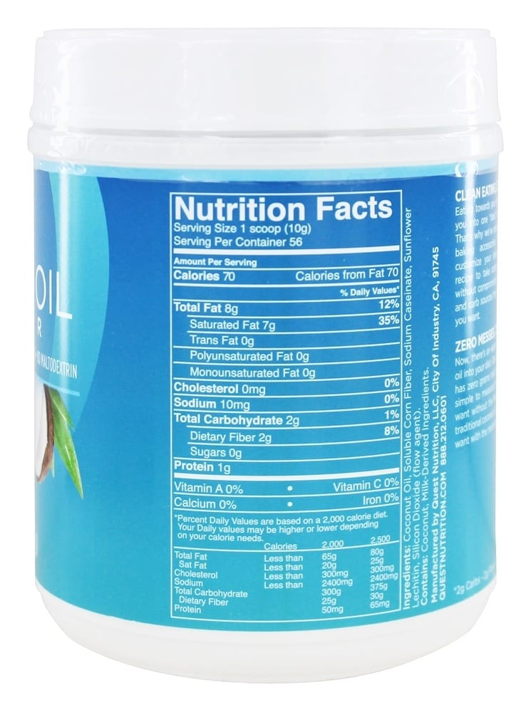 Quest Nutrition Coconut Oil Powder - 20 oz (1.25 lbs)-1614