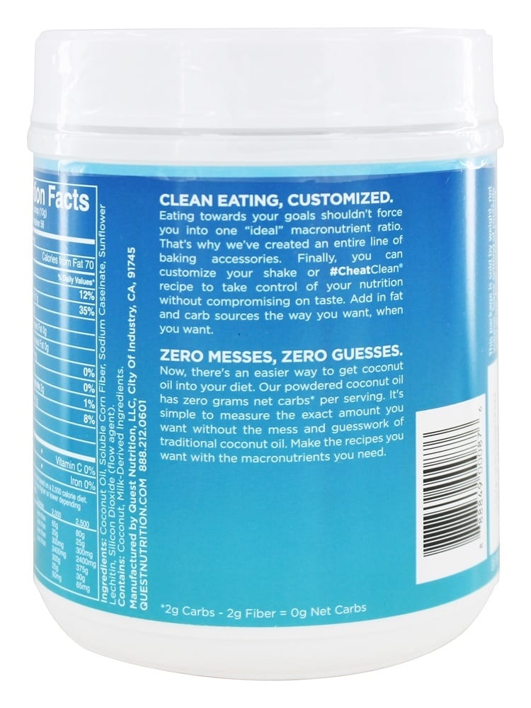 Quest Nutrition Coconut Oil Powder - 20 oz (1.25 lbs)-1613