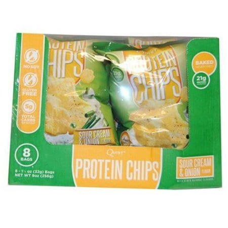 Quest Nutrition Protein Chips - Sour Cream & Onion - 16 - 1 1/8 oz Bags-1621