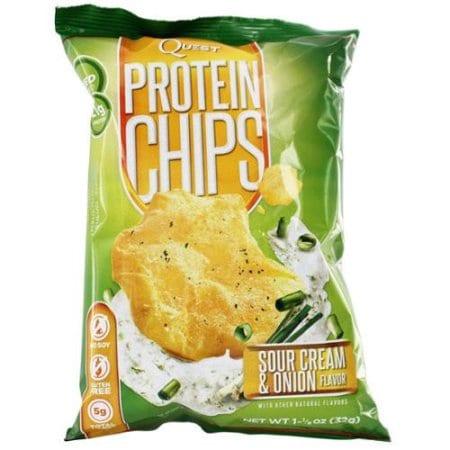Quest Nutrition Protein Chips - Sour Cream & Onion - 16 - 1 1/8 oz Bags-1619