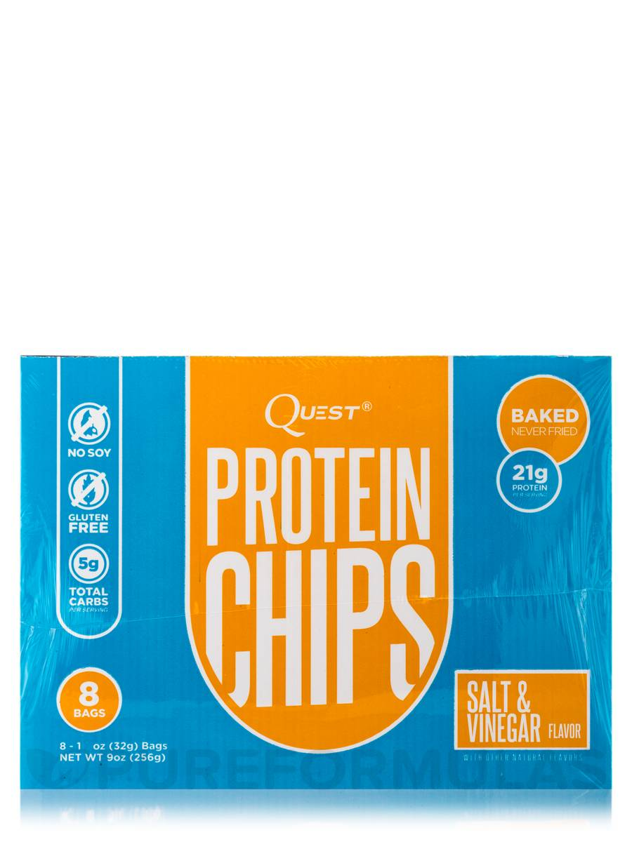 Quest Nutrition Protein Chips - Salt & Vinegar - 16 - 1 1/8 oz Bags-1617