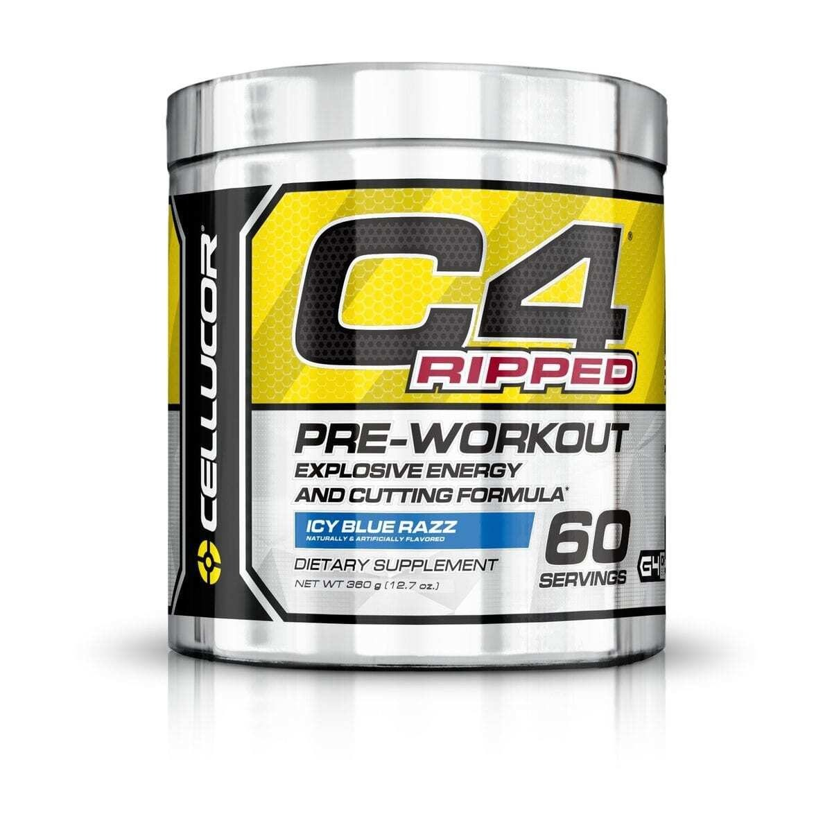 Cellucor C4 Ripped - Icy Blue Razz - 60 Servings