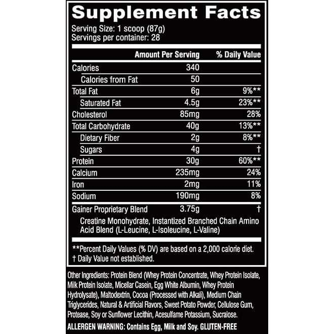 Cellucor COR-Performance Series Gainer - Chocolate - 5.5 lbs-1847