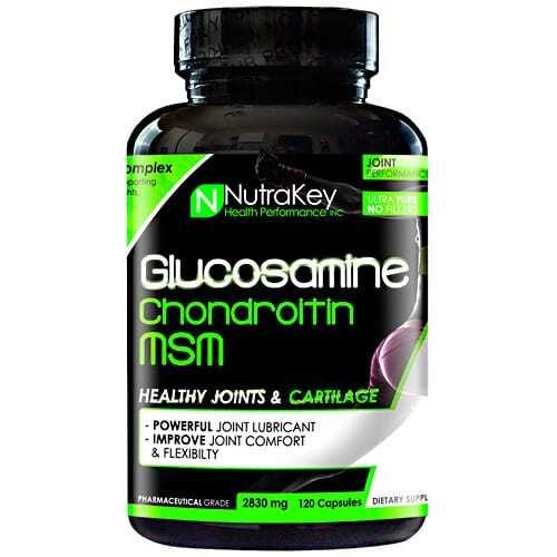 Nutrakey Glucosamine Chondroitin MSM - 120 Capsules