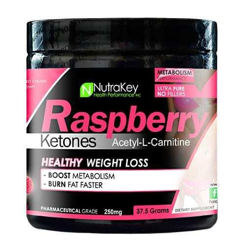 Nutrakey Raspberry Ketones Acetyl-L-Carnitine - 150 Servings