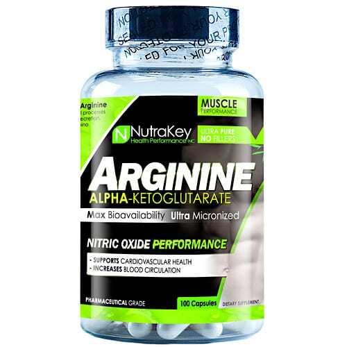 Nutrakey Arginine - 100 Capsules